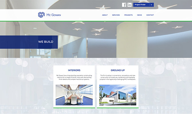 CLIENT: Mc Gowan Website & Projects Portal